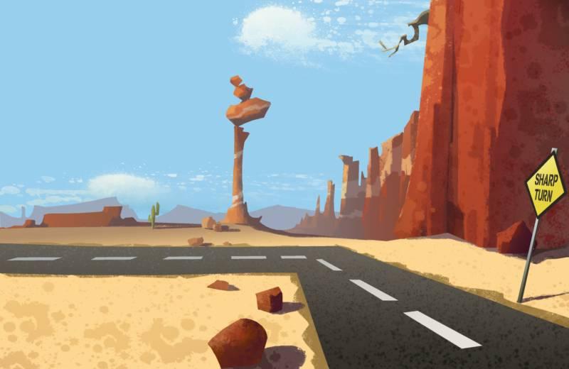 Looney tunes desert background - photo#1